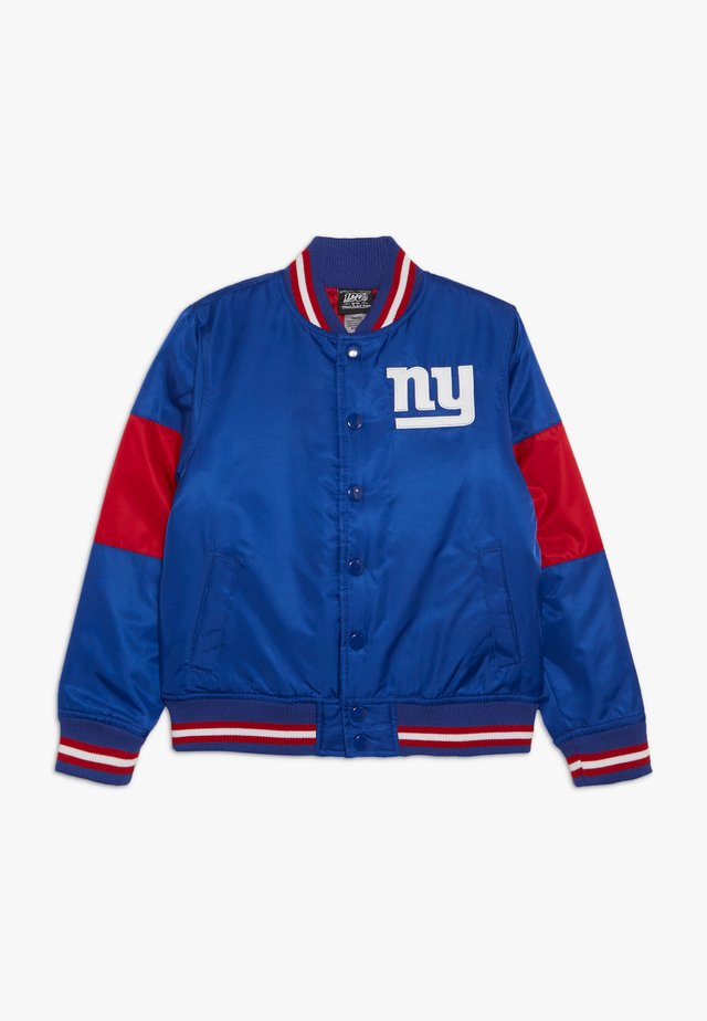 NFL NEW YORK GIANTS VARSITY JACKET - Club wear - rush blue/gym red