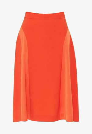A-line skirt - tangerine orange