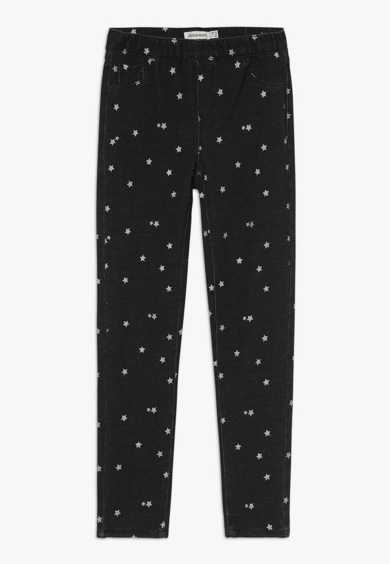 OVS - JEGGING DENIM GLITTER - Jeggings - pirate black