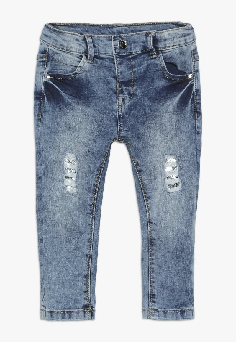OVS - BABY PANT WITH SEQUINS - Jeans Skinny Fit - bleached denim