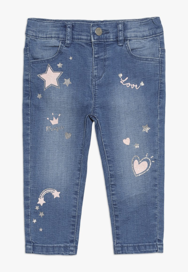 OVS - BABY PANT WITH PRINT - Jeans Skinny Fit - bleached denim
