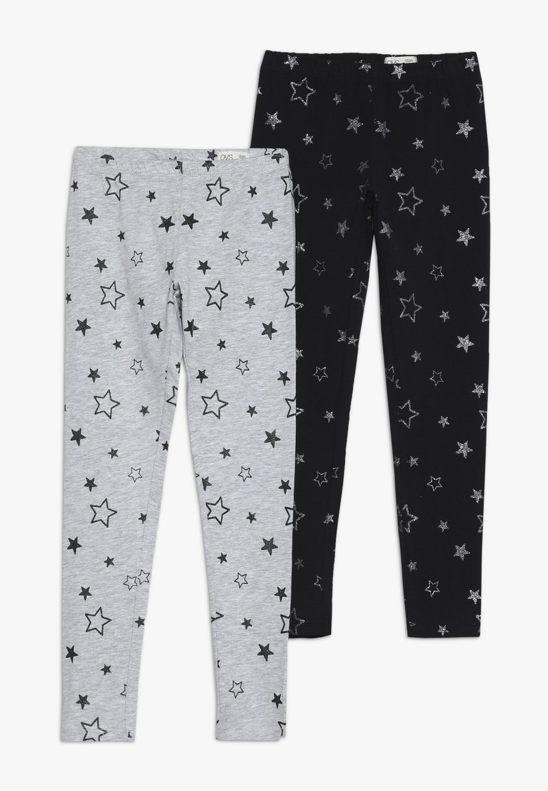 OVS - GLITTER 2 PACK  - Leggings - black beauty
