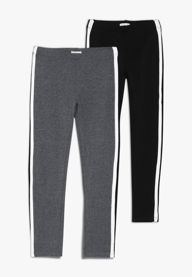 OVS - TAPE 2 PACK  - Leggings - Trousers - meteorite/steel gray