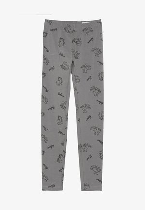 PRINT - Leggings - silver