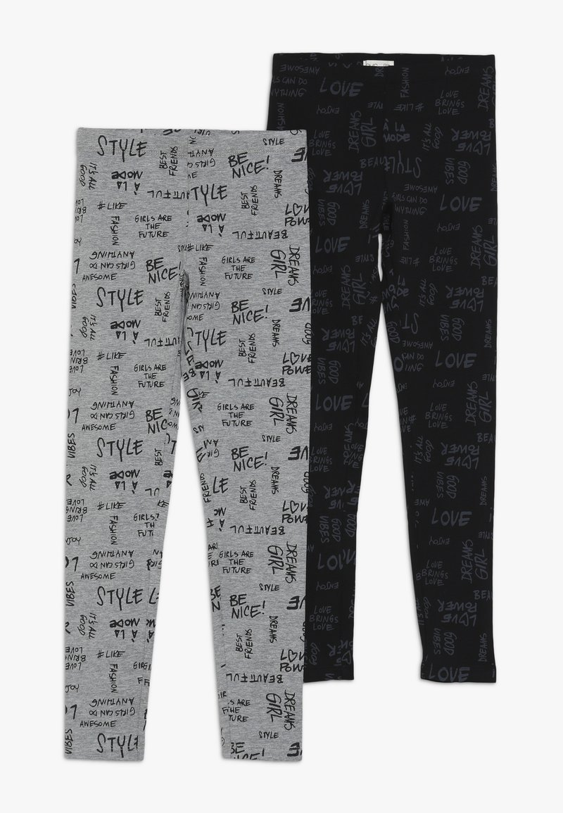 OVS - 2 PACK - Leggings - Trousers - ghost gray/meteorite