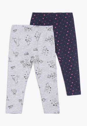 BABY LEGGINGS  2 PACK - Leggings - Trousers - dress blues/grey melange