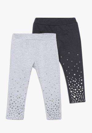 BABY PANT WITH PRINT 2 PACK - Leggings - Trousers - ebony/grey melange