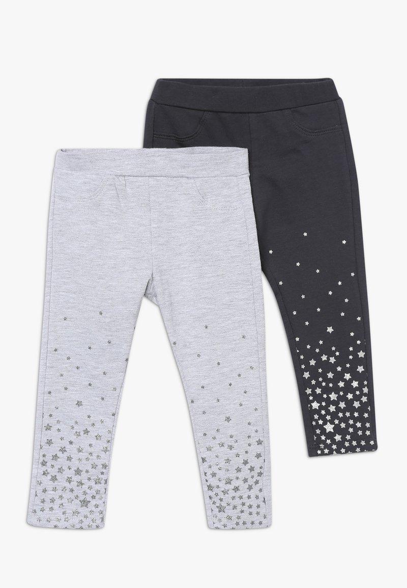 OVS - BABY PANT WITH PRINT 2 PACK - Leggings - ebony/grey melange