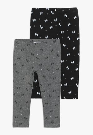 BABY GLITTER 2 PACK - Leggings - Trousers - anthracite/smoked pearl