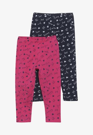BABY 2 PACK - Leggings - Trousers - navy blazer/fuchsia purple