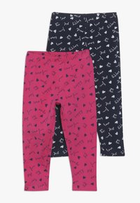 OVS - BABY 2 PACK - Leggings - Trousers - navy blazer/fuchsia purple - 0