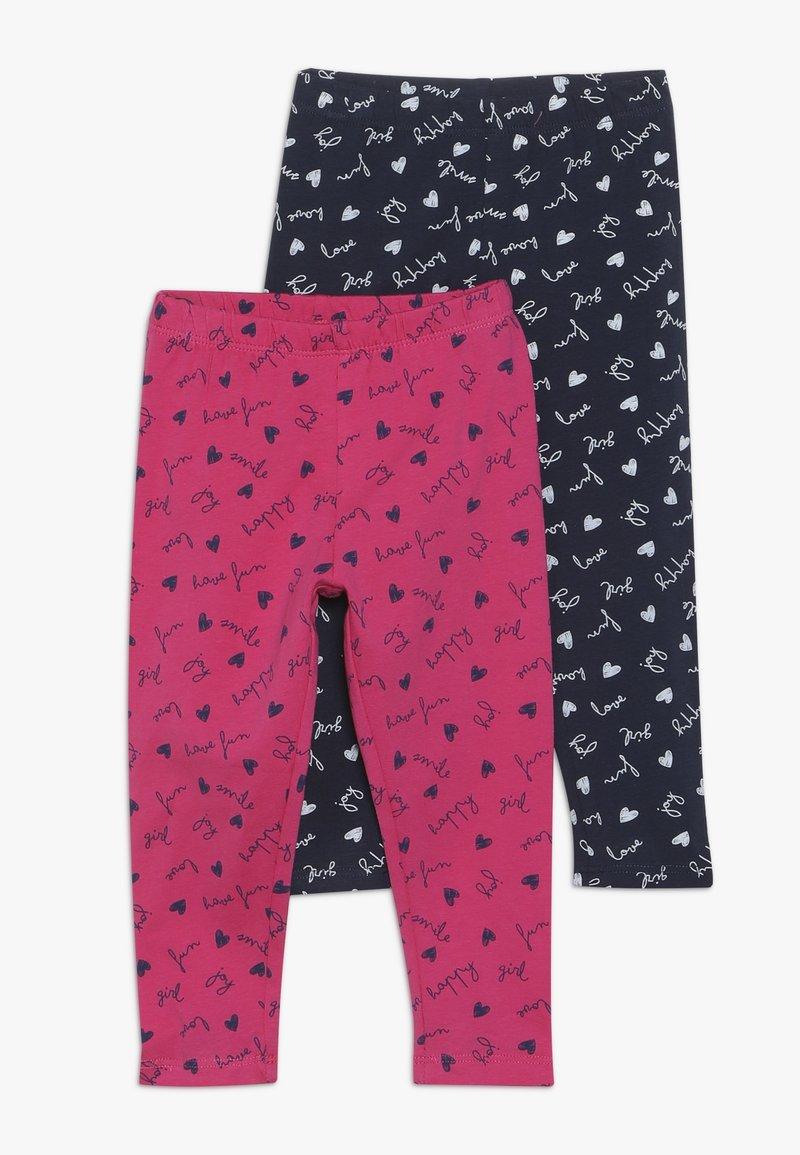 OVS - BABY 2 PACK - Leggings - Trousers - navy blazer/fuchsia purple