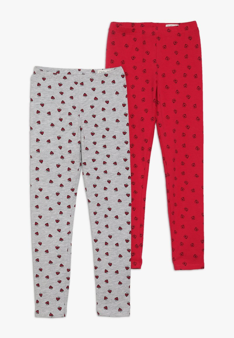 OVS - 2 PACK - Leggings - Trousers - rose red/paloma