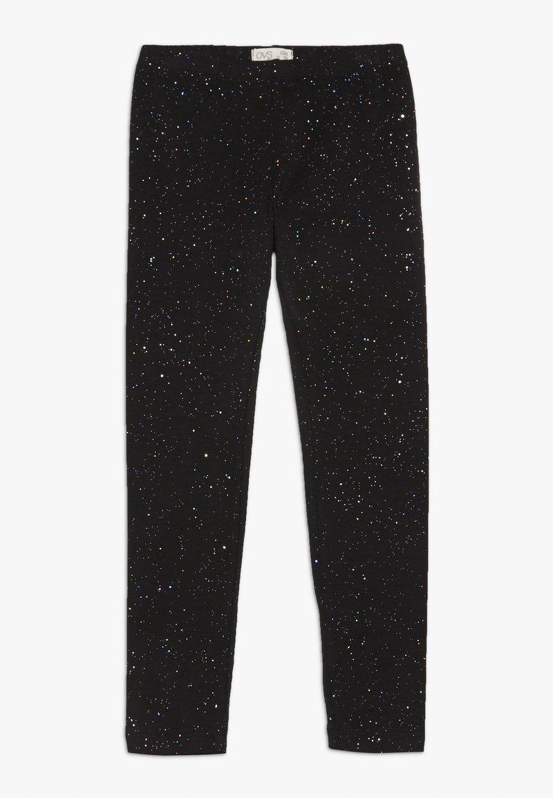 OVS - SPRAY GLITTER - Leggings - black beauty