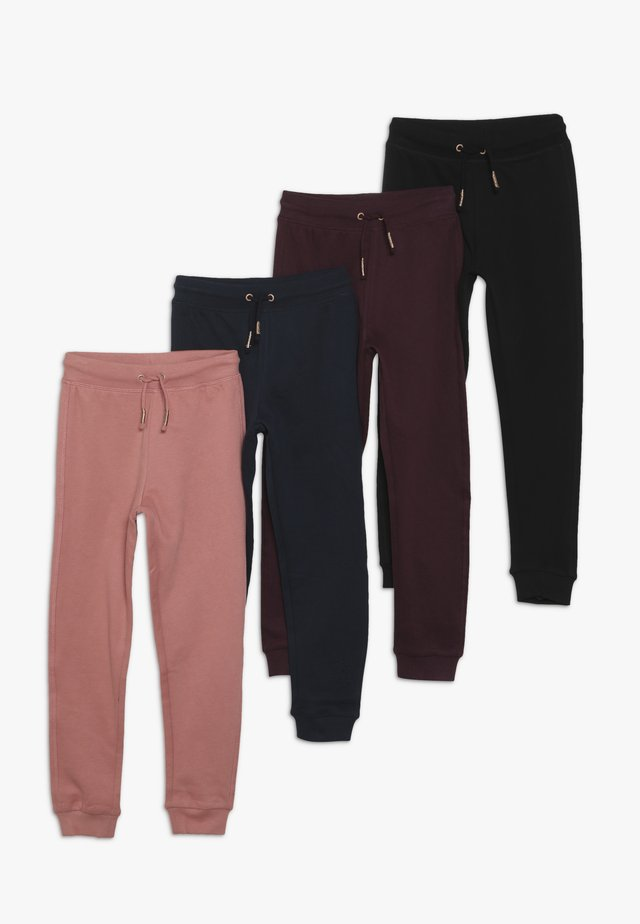 TROUSERS 4 PACK - Stoffhose - tap shoe/fig/dusty rose/navy blazer
