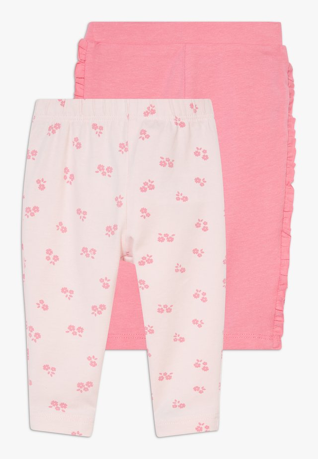 WITH ROUCHE 2 PACK - Leggings - Trousers - calypso coral/barely pink