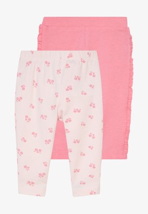 WITH ROUCHE 2 PACK - Leggings - Hosen - calypso coral/barely pink