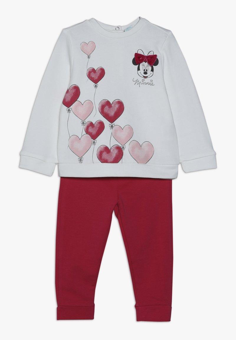 OVS - BABY JOGGING MINNIE HEARTS - Sweatshirt - blanc de blanc