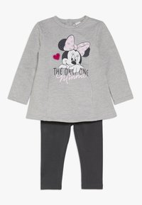 OVS - BABY DRESS MINNIE SET  - Leggings - medium grey melange - 0