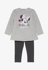 OVS - BABY DRESS MINNIE SET  - Leggings - medium grey melange - 3