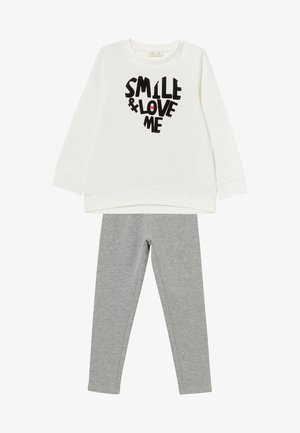 SET - Pantalones - black/white/grey