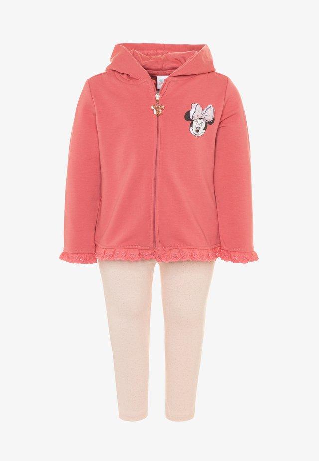 MINNIE SET - veste en sweat zippée - desert rose