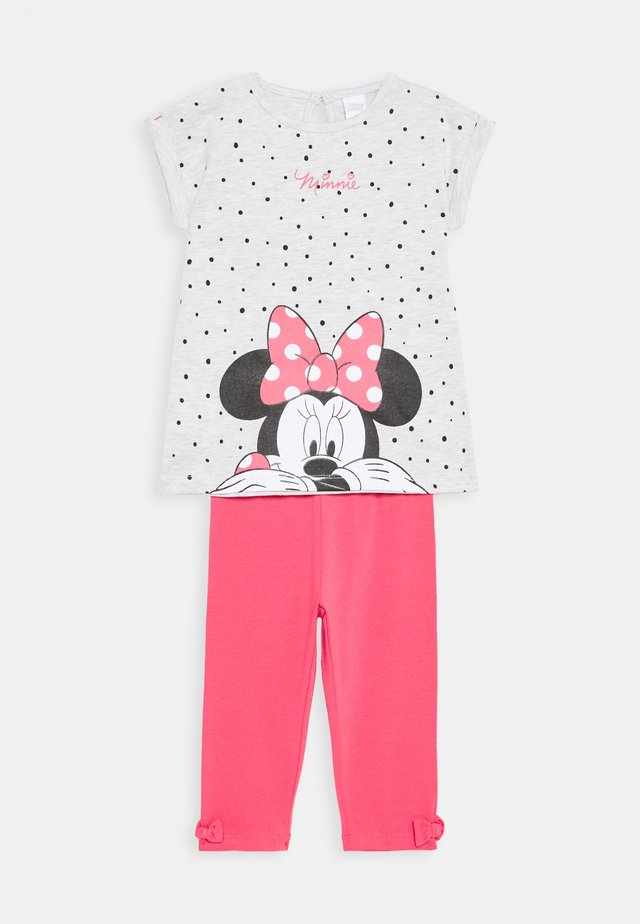 MINNIE SET - Leggings - Trousers - grey melange