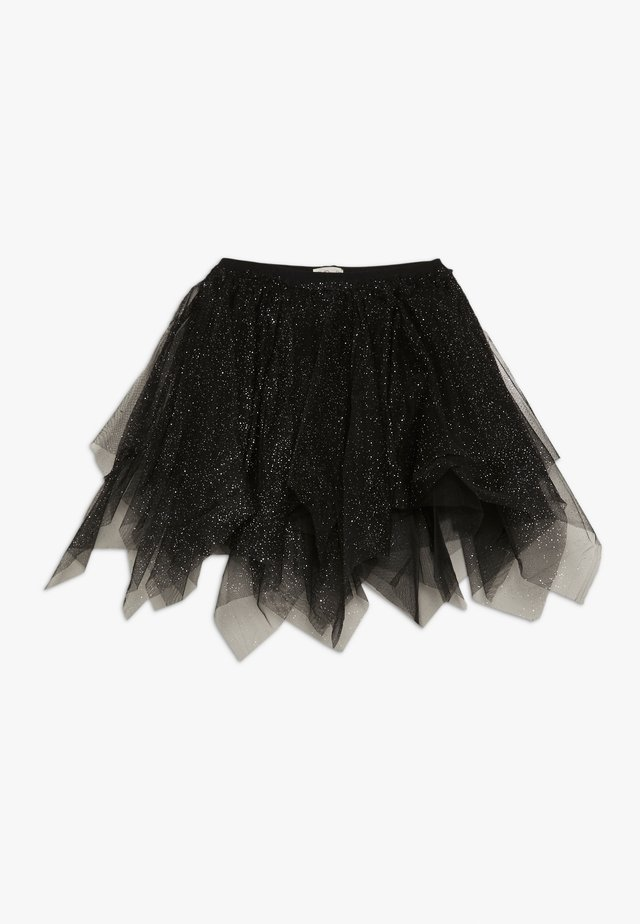 SKIRT SPRAY FOIL - Áčková sukně - black beauty