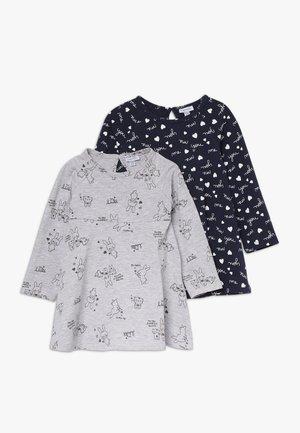 BABY DRESS 2 PACK - Jerseykjoler - dress blues/grey melange