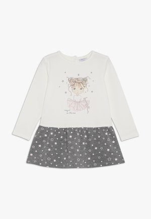 BABY DRESS PRINT - Korte jurk - brilliant white