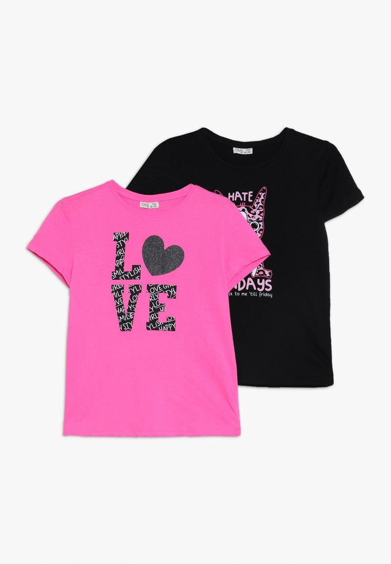 OVS - PRINT 2 PACK  - Print T-shirt - knockout pink
