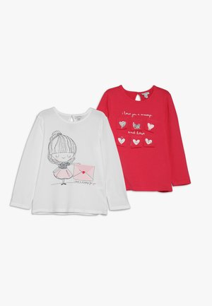 BABY PRINT 2 PACK - Long sleeved top - bright white/teaberry