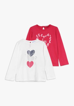 BABY PRINT 2 PACK - Long sleeved top - bright white/rose red