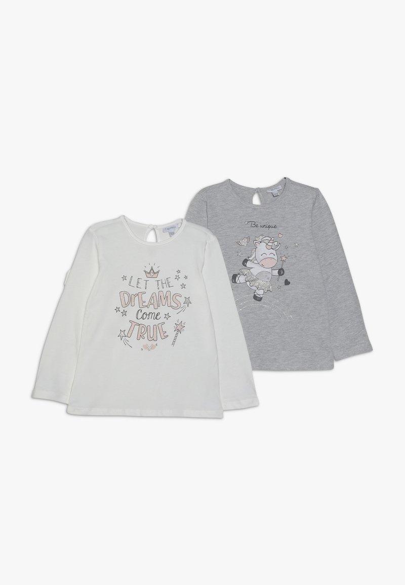 OVS - BABY PRINT 2 PACK  - Longsleeve - grey melange/blanc de blanc