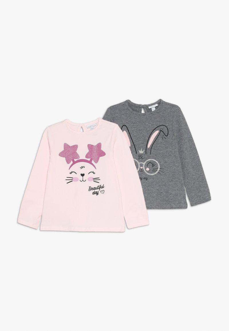 OVS - BABY PRINT 2 PACK - Langærmede T-shirts - barely pink/anthracite