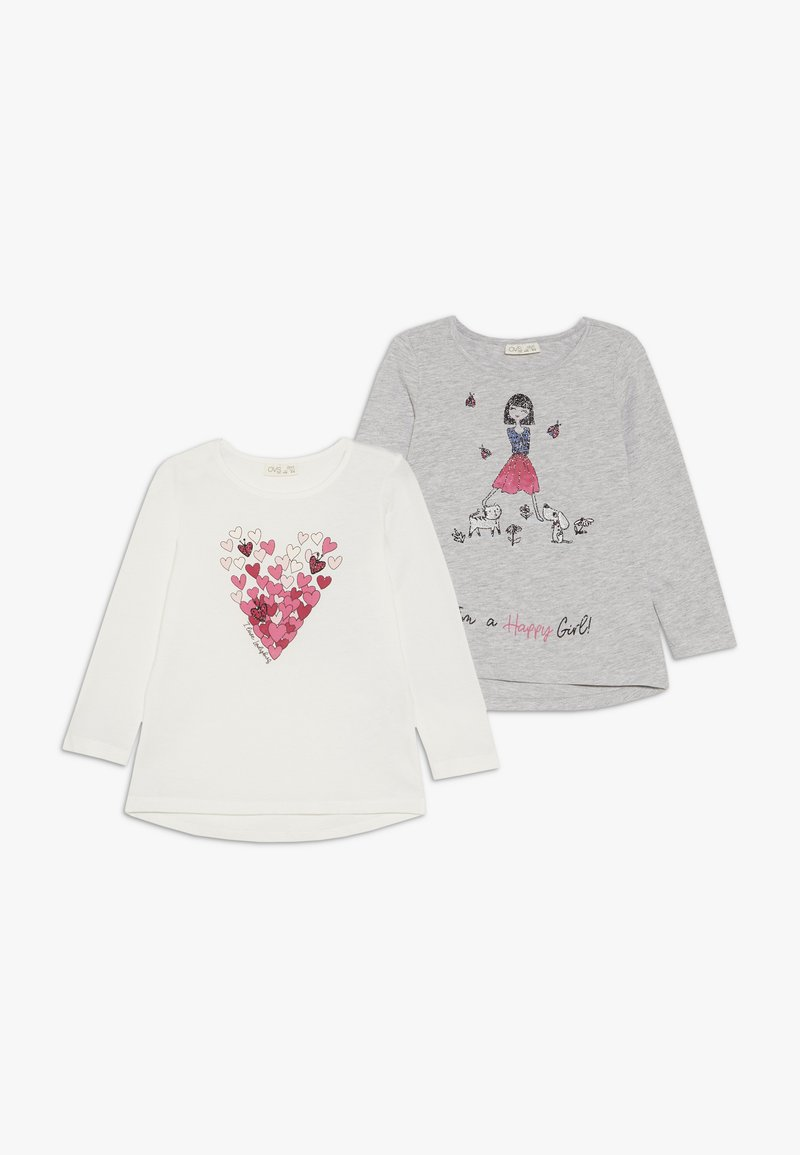 OVS - 2 PACK - Long sleeved top - snow white/paloma