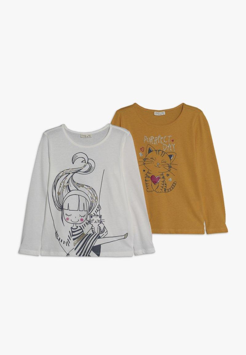 OVS - 2 PACK - Langærmede T-shirts - brilliant white/freesia