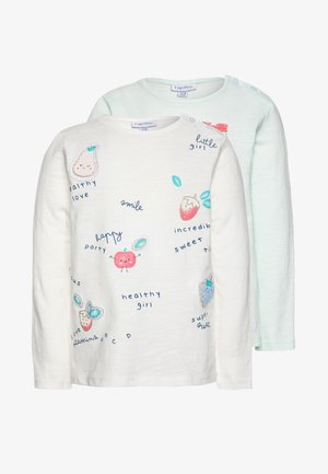 WITH PRINT 2 PACK - Longsleeve - cloud dancer/confetti