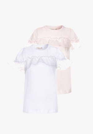 2 PACK - Print T-shirt - rosewater/bright white
