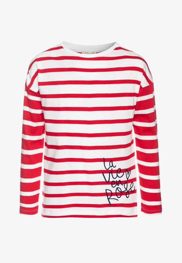STRIPES - Langarmshirt - fiery red