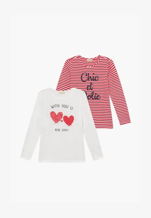 2 PACK - Camiseta de manga larga - snow white/lollipop