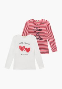 OVS - 2 PACK - Long sleeved top - snow white/lollipop - 0