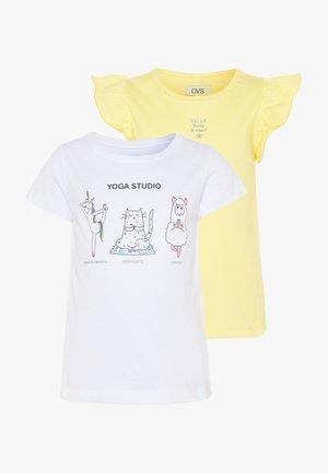 2 PACK - T-shirt z nadrukiem - yellow iris