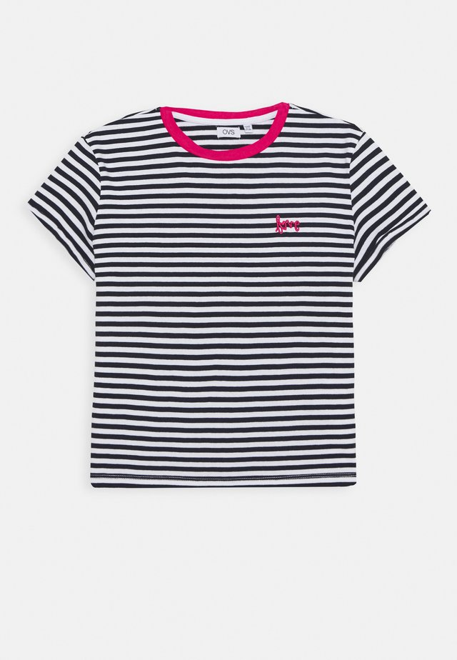 STRIPED  - T-shirt print - night sky