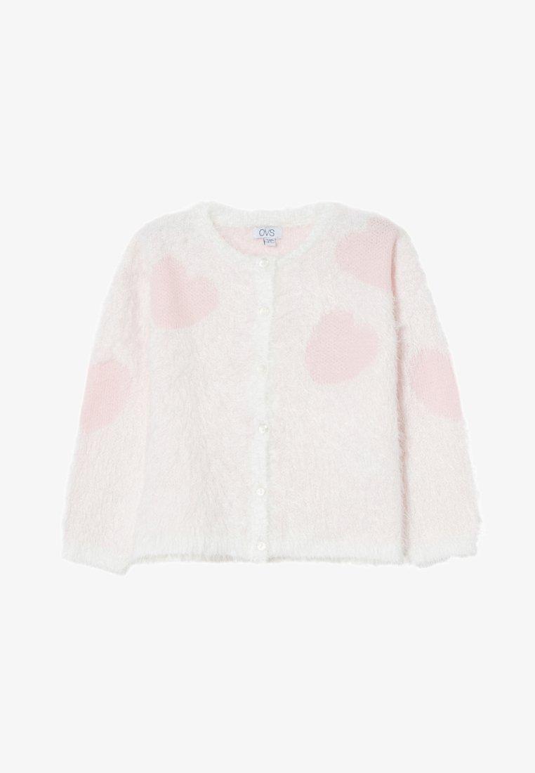 OVS - Strickjacke - white/pink