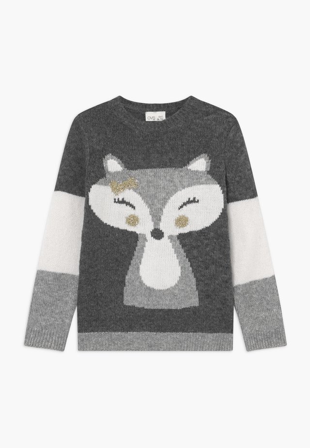 FOX - Strickpullover - grey
