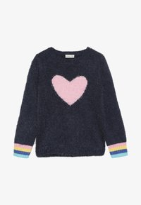 OVS - ROUND SWEATER INTARSIA - Jumper - blue wing teal - 3