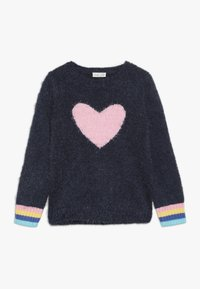 OVS - ROUND SWEATER INTARSIA - Jumper - blue wing teal - 0