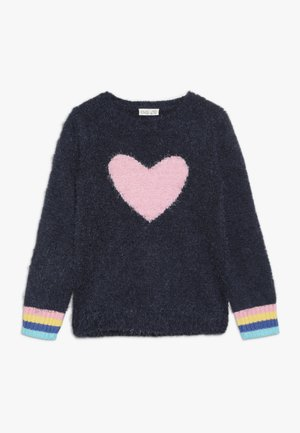 ROUND SWEATER INTARSIA - Jumper - blue wing teal