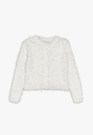 CARDIGAN SEQUINS - Kofta - snow white